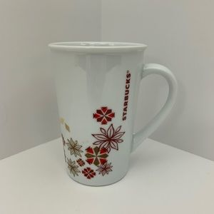 Starbucks white 12oz travel cup